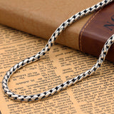 "Heavy Solid Sterling Silver Thai Silver Keel Chain 5mm Men's Necklace 18""-24"""