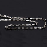 "Genuine Solid 925 Sterling Thai Silver Cuboid Chain Curse Men's Necklace 20""-24"""