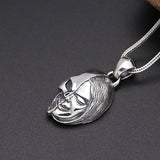 Solid 925 Sterling Thai Silver Pendant Half Skull Face Men's Women's