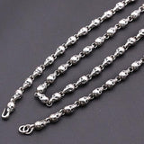 "Real Solid 925 Sterling Thai Silver Necklace Chain Skull Men's 18""-32"""