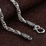"Genuine Solid 925 Sterling Thai Silver Double O Loop Chain Men's Necklace18""-32"""