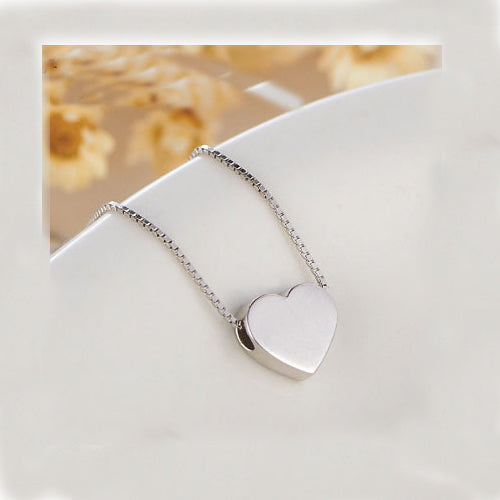 Women's Solid 925 Sterling Silver Pendant Necklace Charm Heart Jewelry Gift