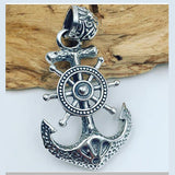 Genuine Solid 925 Sterling Silver Pendant Anchor Men's Women's