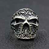 Men's Real 925 Sterling Silver Ring  Skull Carved Ninja Mask Jewelry Size 8-11