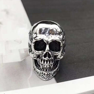 Real 925 Sterling Silver Ring Skull Open Size 8 9 10