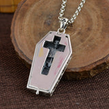 Real 925 Sterling Silver Pendant Cross Coffin Skeleton Skull