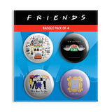 Friends TV Series Combo Pack of 4 Badges