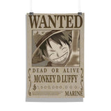 One Piece Monkey D Luffy Wanted Poster