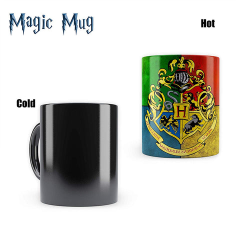 Harry Potter House Crest-3 |  Heat Sensitive Mugs | Cool Coffee & Tea, Cup Drinkware Ceramic Mugs