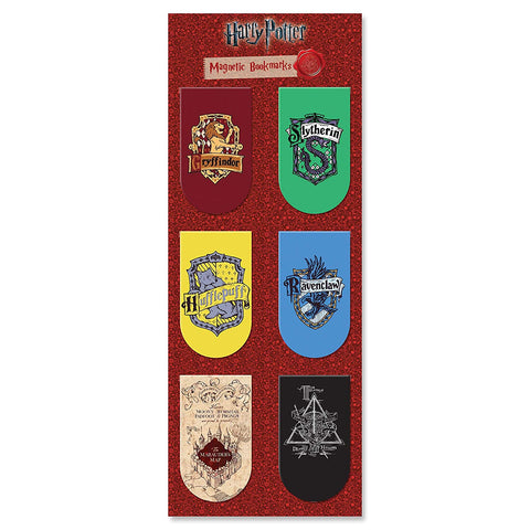 Harry Potter Houses (Pack of 6) | Magnetic Bookmarks | Gifts for Readers and Book Lovers