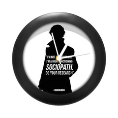 Sherlock Holmes TV Series Table Clock of Sociopath