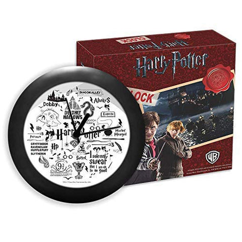 Harry Potter - Infographic Black Table Clocks