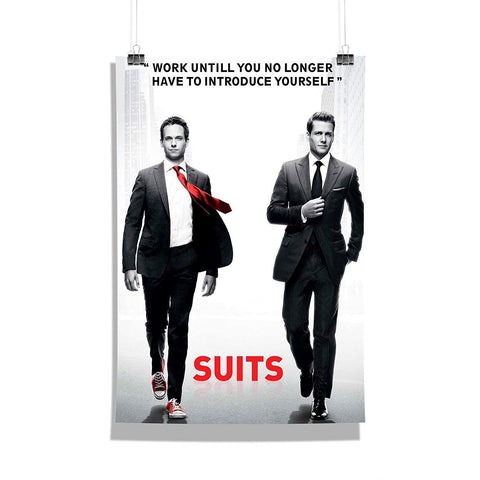 Suits Tv Series Work Until You No Longer Quote Poster for Home | Poster for Office Gift Set Birthday Gift Girl Friends boy Friends