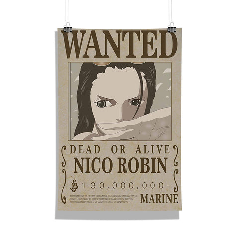 One Piece Nico Robin Wanted Poster