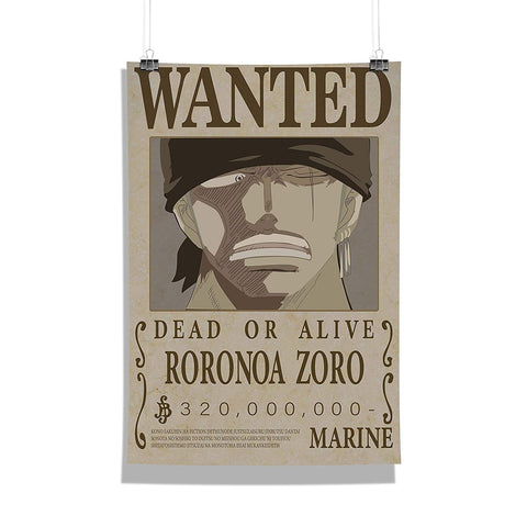 One Piece Roronoa Zoro Wanted Poster
