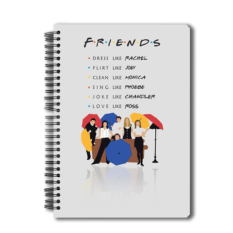Friends TV Series Umbrella A5 Notebook