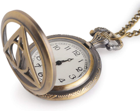 Harry Potter Embossing Analog Pocket Watch with Chain