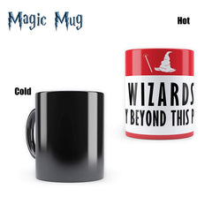 "Harry Potter - Wizard Only Morphing Magic Heat Sensitive Mugs "" Cool Coffee & Tea, Cup Drinkware Ceramic Mugs"