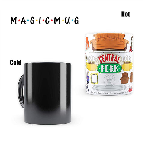 FRIENDS | Morphing Magic Heat Sensitive Mugs | Cool Coffee & Tea, Cup Drinkware Ceramic Mugs