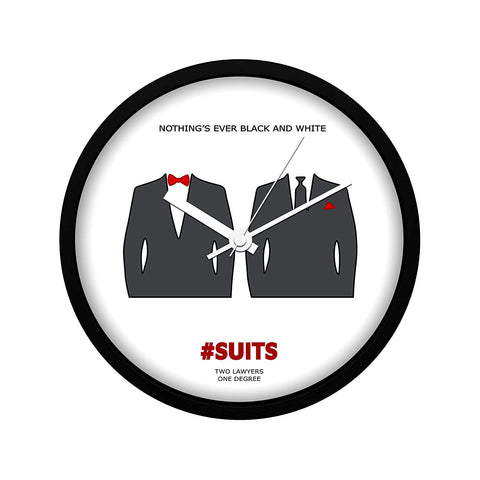 Suits TV Series Nothing's Black and White Wall Clock