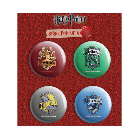 Harry Potter Pack of 4 Round Badges