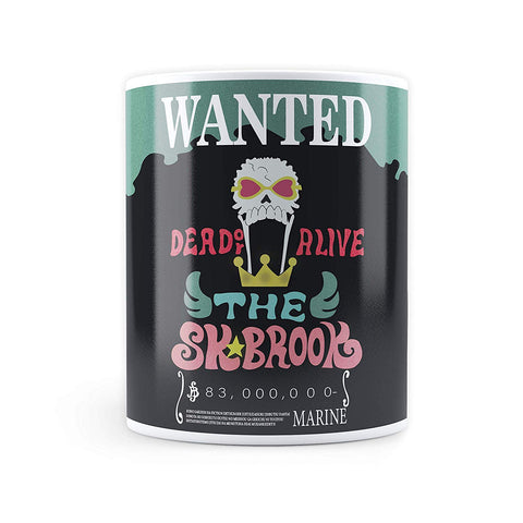 One Piece Brook Wanted Bounty Poster - Coffee Mug