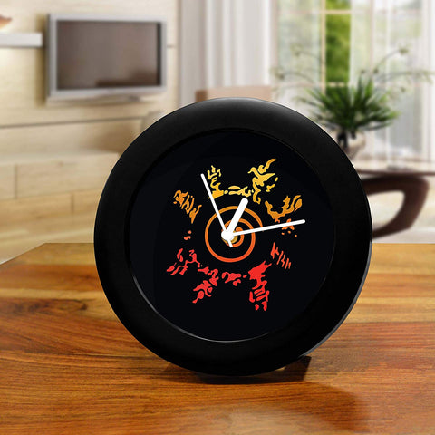Anime-Naruto's Eight Trigrams Seal - Design Table Clock Desk Clock |Table Clock for Home and Office,Gift Set Birthday Gift
