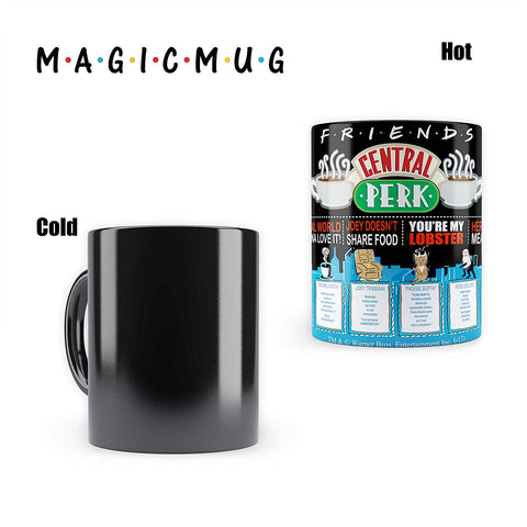 FRIENDS Quotes | Morphing Magic Heat Sensitive Mugs | Cool Coffee & Tea, Cup Drinkware Ceramic Mugs