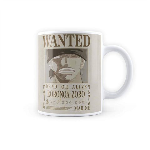 One Piece Roronoa Zoro Wanted Poster - Coffee Mug