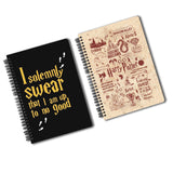 Harry Potter Pack Of 2 (Solemnly Swear+ Infographic Red) A5 Notebook