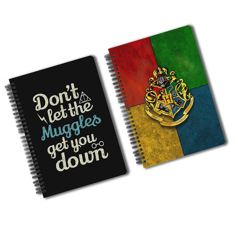 Harry Potter Pack Of 2 (House Crest + Muggles) A5 Notebook