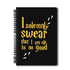 "Harry Potter ""- I solemnly swear , Notebook"