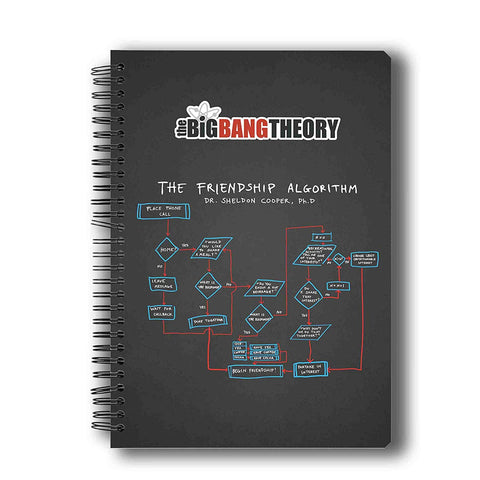 The Big Bang Theory Friendship Algorithm A5 Notebook
