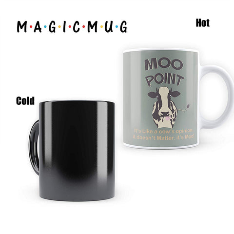 FRIENDS MOO Point - Heat Sensitive Magic Mug