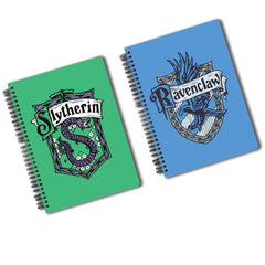 Harry Potter - Combo Pack of 2 (Slytherin + Ravenclaw) Spiral Notebook