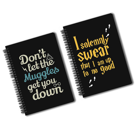 Harry Potter Pack Of 2 (Solemnly Swear + Muggles) A5 Notebook