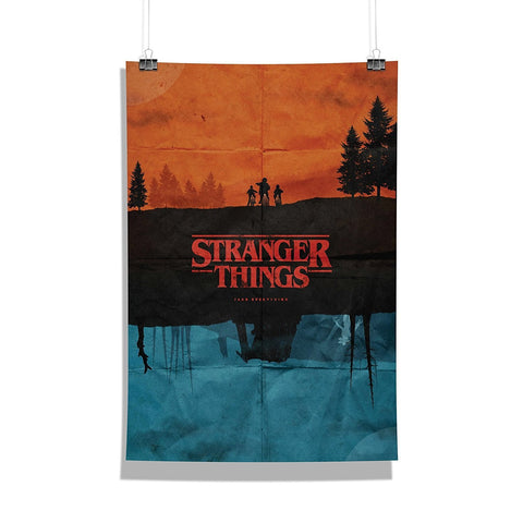 Stranger Things Minimalistic Art | Wall Decor for Home and Office [ Frame Not Included ] | Size A3]