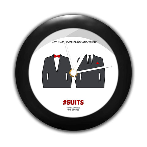 Suits TV Series - Black and White Table Clock