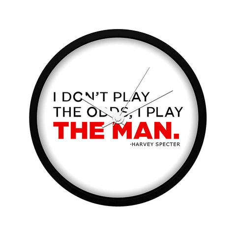 Suits TV Series Play The Man Wall Clock
