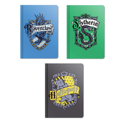 Harry Potter House Crest Combo Pack of 3 A5 Notebooks