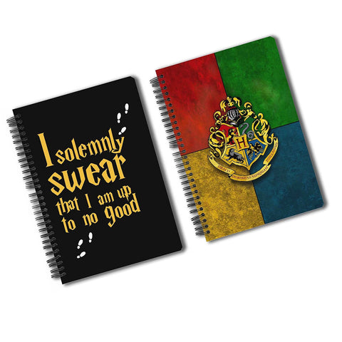 Harry Potter Pack Of 2 (Solemnly Swear + House Crest) A5 Notebook