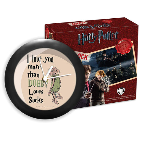 Harry Potter Love You More Than Dobby Table Clock
