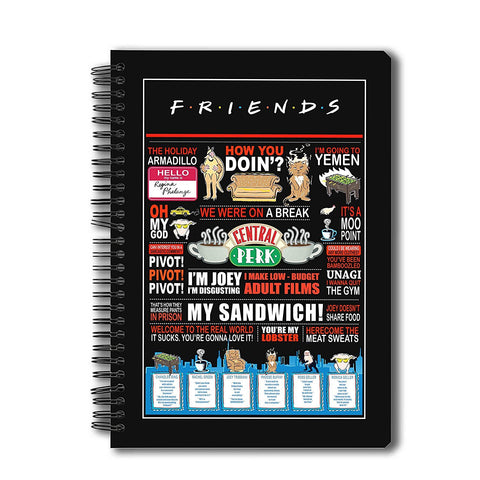 Friends TV Series Quotes Notebook A5