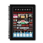 Friends TV Series Pack of 2 (Quotes + Umbrella) A5 Notebook