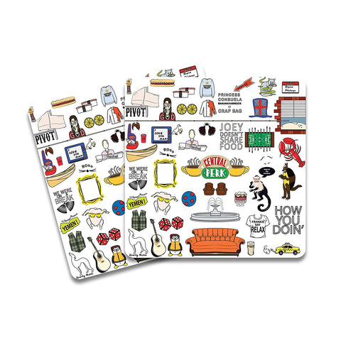 FRIENDS Doodle Wooden Coaster - Pack of 2