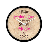 Harry Potter Happy Mother's Day Muggles Wall Clock