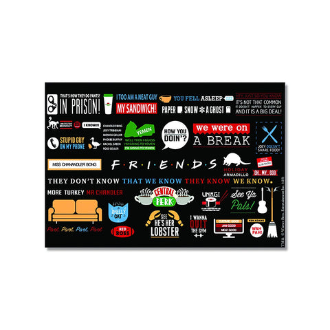 Friends TV Series Infographic Rectangular Fridge Magnet