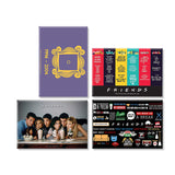 Friends TV Series Pack of 4 (Straw + Character + Door+ Infographic) Rectangular Fridge Magnet