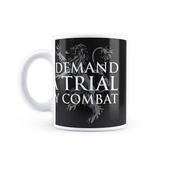 MC SID RAZZ Game of Thrones I Demand A Trial Coffee Mugs Officially Licensed by HBO (Home Box Office), USA