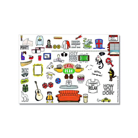 Friends TV Series Doodle Rectangular Fridge Magnet